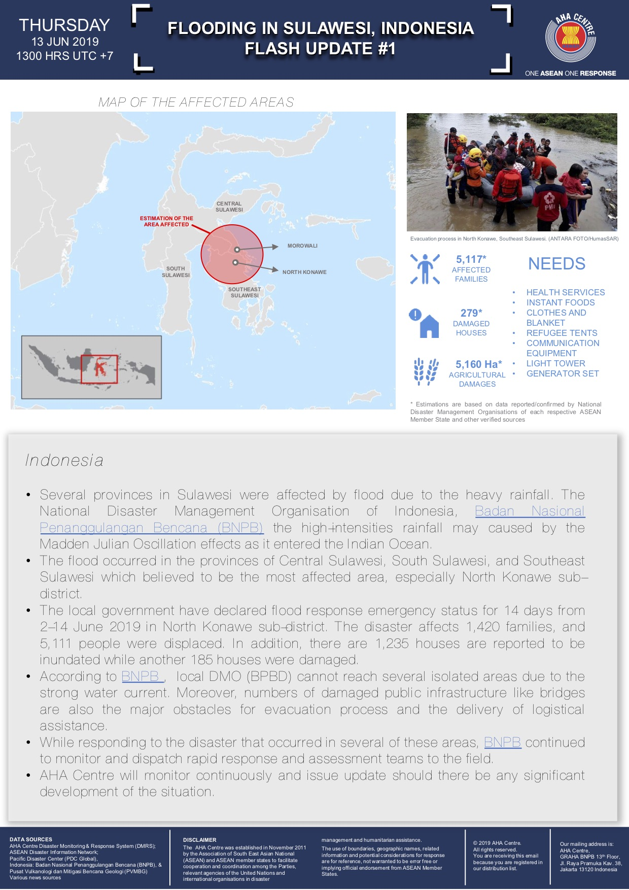 Indonesia – Thousands Displaced by Floods on Sulawesi Island